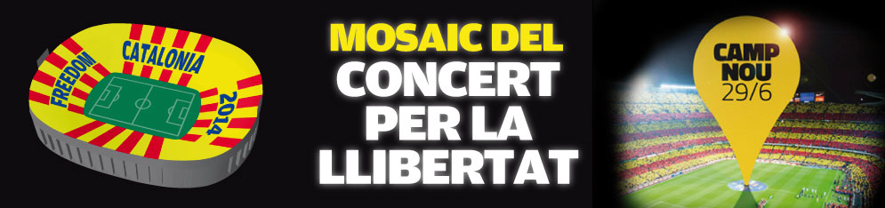 el blog de la josefina freedom for catalonia 2014 el mosaic que es far al concert 29 j. Black Bedroom Furniture Sets. Home Design Ideas