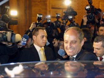 L'expresident Camps després de la lectura del veredicte del jurat popular Foto:EFE